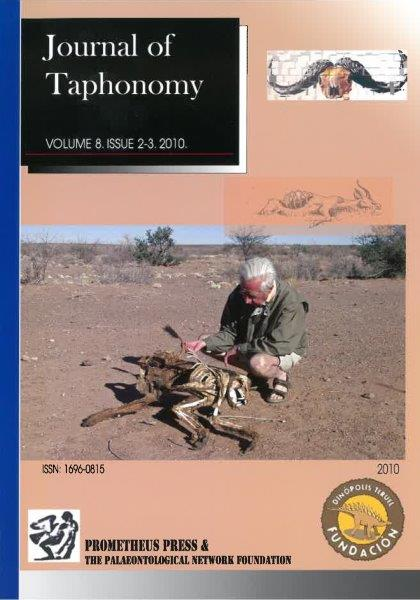 VOLUME 8. NUMBER 2-3. 2010 [Paleoanthropological Taphonomy in Southern Africa Travis Rayne Pickering & Amy Egeland (eds.)]